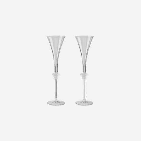 Medusa Lumiere Pair of Champagne Flutes