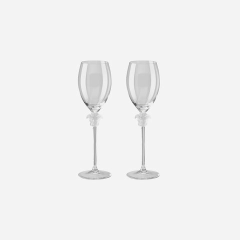 Medusa Lumiere Pair of White Wine Glasses
