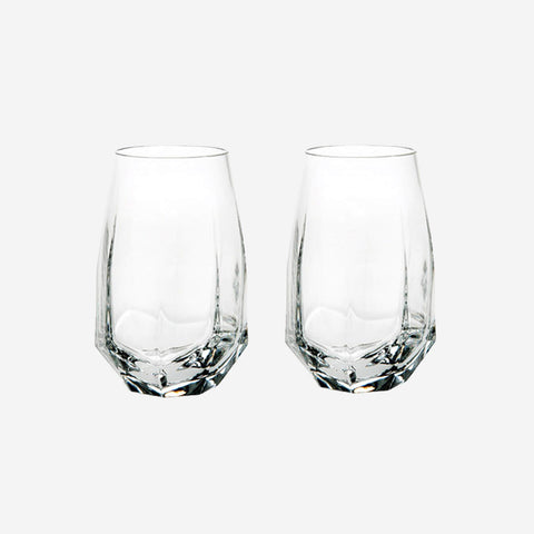 Vista Alegre Atlantis Crystal - Gemstone Highball Tumblers (Set of 2)