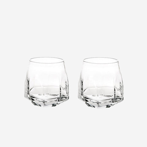 Vista Alegre Atlantis Crystal - Gemstone Old Fashioned Tumblers (Set of 2)