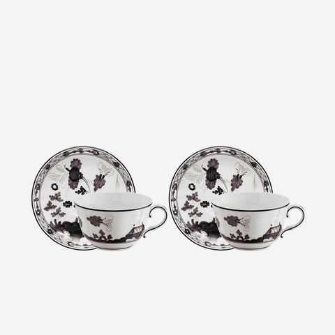 Oriente Italiano Teacup & Saucer Albus - Set of Two Richard Ginori Bonadea