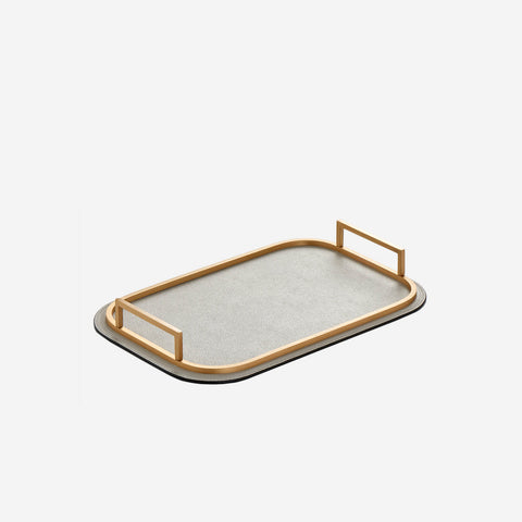 Bellini Small Rectangular Tray Light Grey
