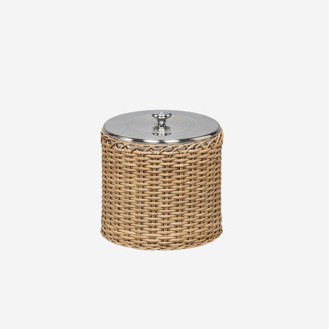 Pigment France - Saint Tropez Rattan Ice Bucket and Tongs