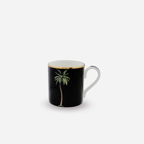 Halcyon Days Palm on Black Mug -BONADEA
