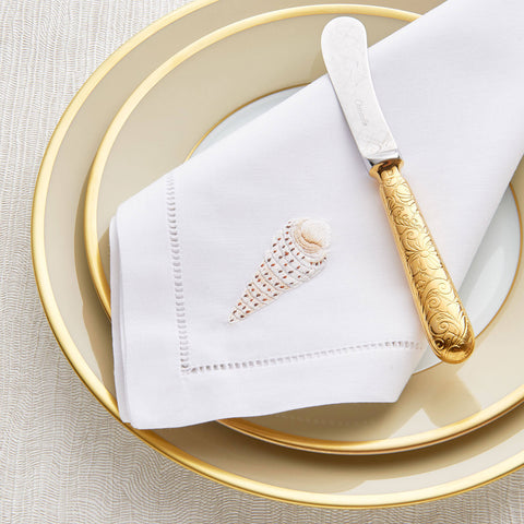 Sibona Cone Shell Hand-embroidered Dinner Napkin