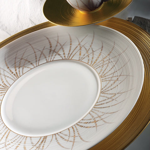 J.L Coquet Toundra Gold Charger Plate