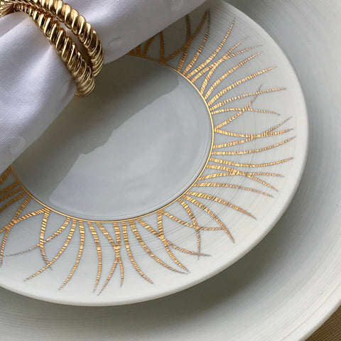 J.L Coquet Toundra Gold Dinner Plate
