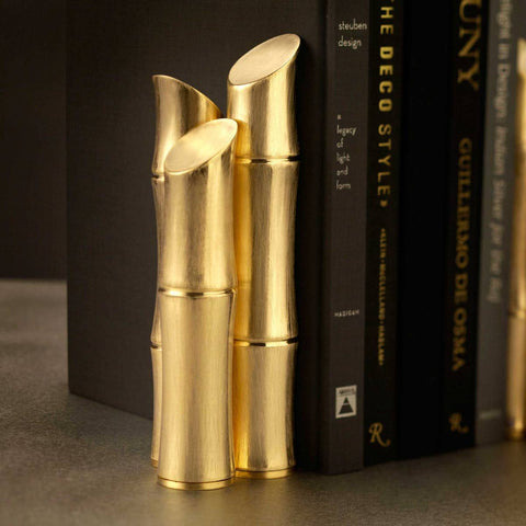 L'Objet - Bambou Gold Bookends - Set of Two