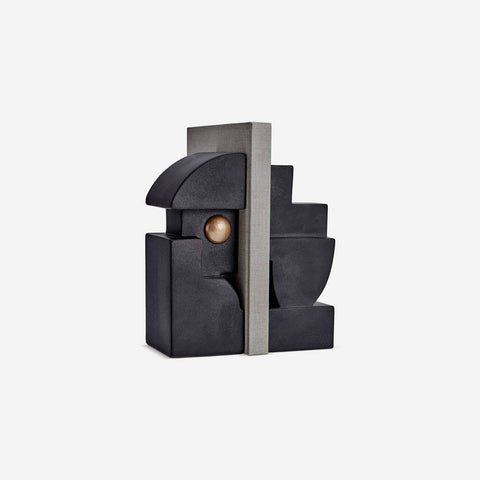L'Objet - Cubisme Bookend One - Black - BONADEA
