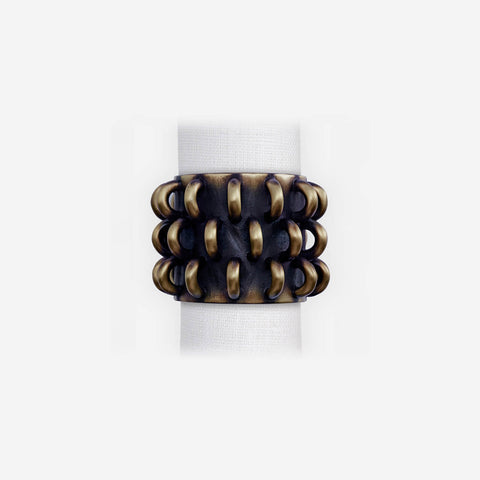 L'Objet Napkin Rings - Tulum Rings Set of 4 Napkin Jewels