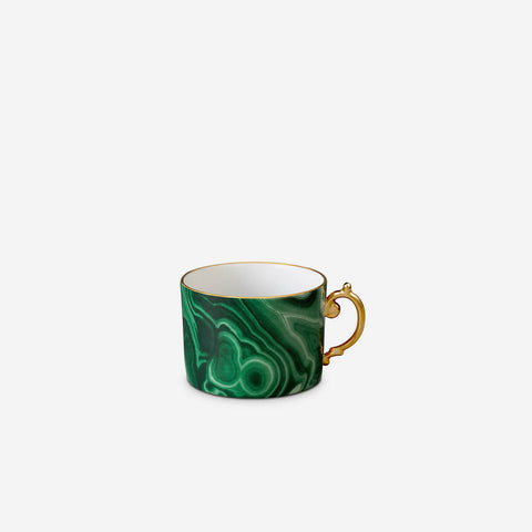 Malachite teacup and saucer (Set of 2)