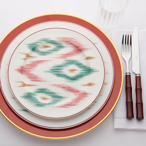 Laboratorio Paravicini - Hand-painted Ikat Dessert Plate