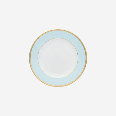 sous le soleil opal dinner plate with gold rim bonadea