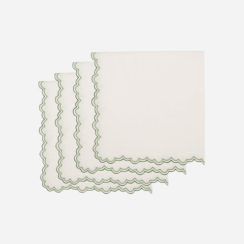 Set of Four Willow Green Napkins