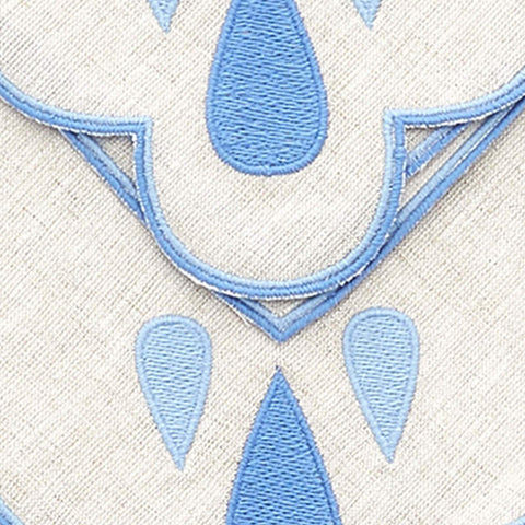 Set of Four Blue Drops Dinner Napkins bonadea