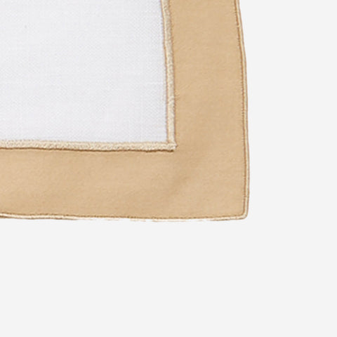 Matouk Set-of-Four Mirasol Linen Placemats - Champagne