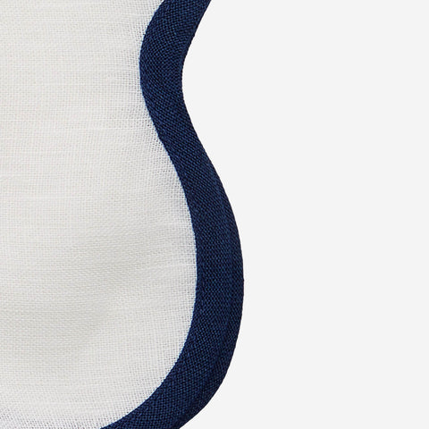 Matouk Set-of-Four Scallop Napkins - Sapphire Blue