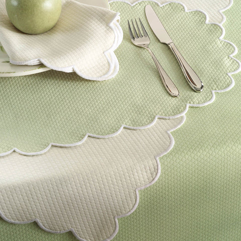 Matouk Set-of-Four Savannah Gardens Napkins - Spring Green
