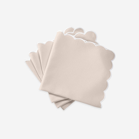 Set of Four Savannah Gardens Pink Napkins