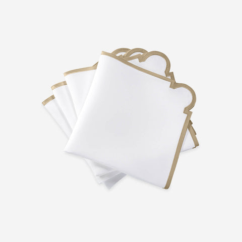 Matouk Set-of-Four Mirasol Napkins - Champagne