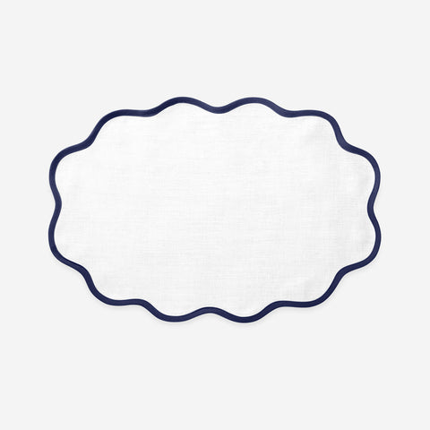 Matouk Set-of-Four Scallop Placemats - Sapphire Blue