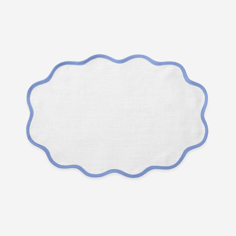 Matouk Set-of-Four Scallop Napkins - Sky Blue
