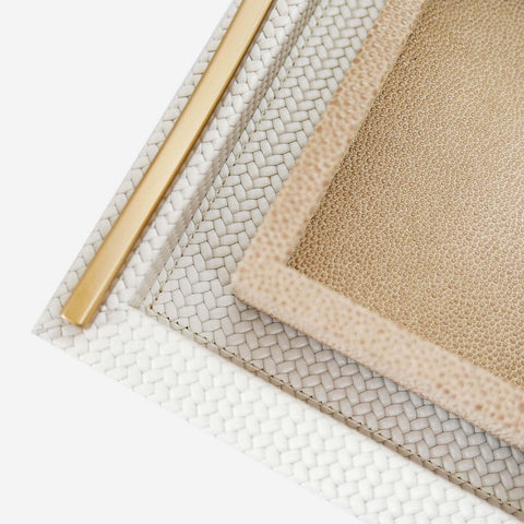Pinetti - Onda Square Leather Tray Ivory