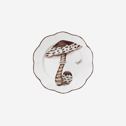 Alberto Pinto | 'Les Champignons' Set of Six Handpainted Mushroom Plates