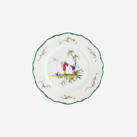 Raynaud's 'Longjian' playful set includes six porcelain dessert plates that are decorated with exotic country scenes.