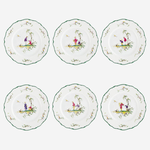 Longjiang Set of Six Dessert Plates