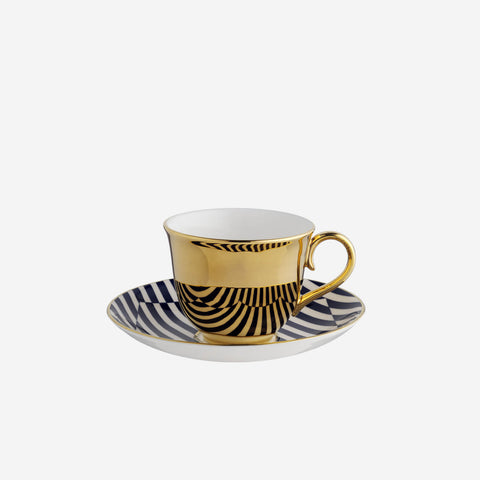 Richard Brendon Patternity Warp Teacup & Saucer - BONADEA