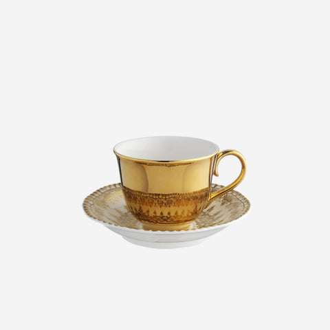Richard Brendon Reflect Gold Teacup & Saucer - BONADEA