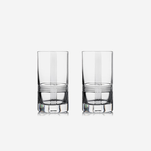 Rogaska Crystal Mercer Set of Two Highball Tumblers