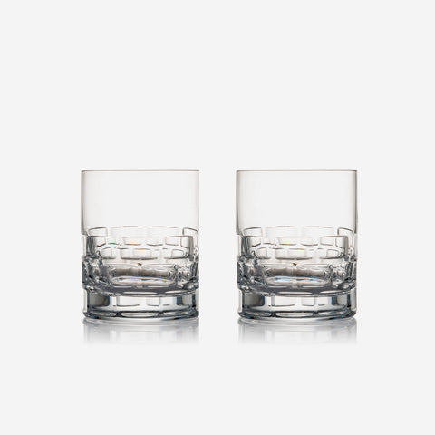 Rogaska Crystal - Maison Double Old Fashioned Tumbler Glasses