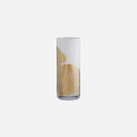 Aquaria White & Gold Coral Vase