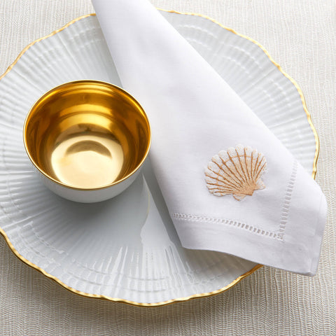 Sibona Scallop Shell Hand-embroidered Dinner Napkin