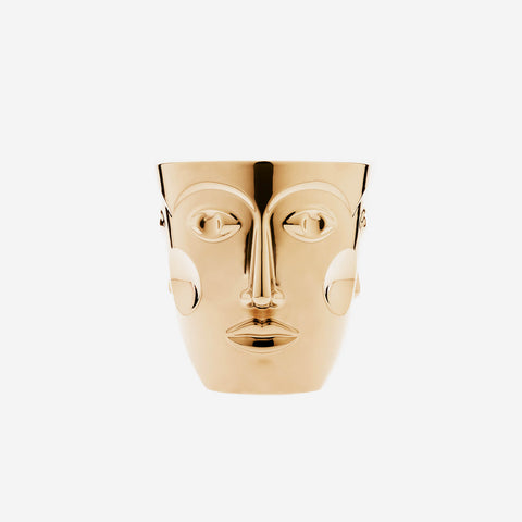 Sieger by Fürstenberg - 'Faces' Gold Champagne Bucket - BONADEA