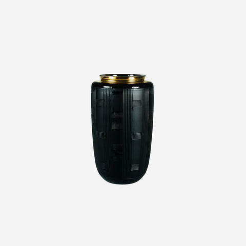 Jet Black Case with Small Vase