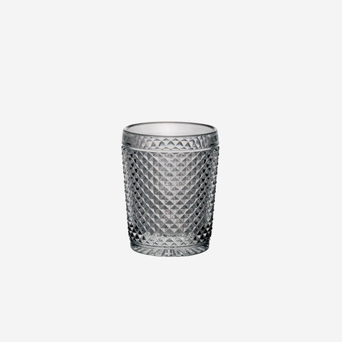 Vista Alegre Criss Cross Set of Four Smoke Grey Tumblers - BONADEA