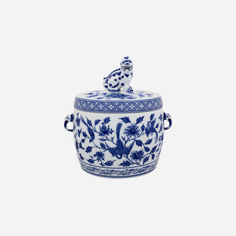 Vista Alegre - Cobalt Blue & White Foo Dog Lidded Jar