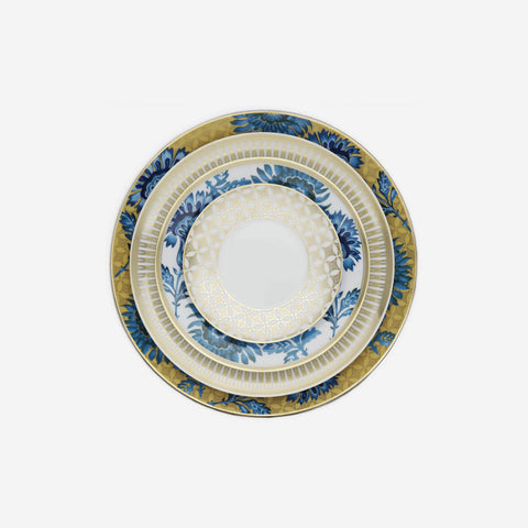 Vista Alegre - Gold Exotic Dinner Plate - BONADEA