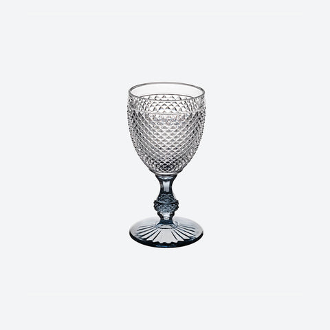 Criss Cross Smoke Stem Wine Goblet