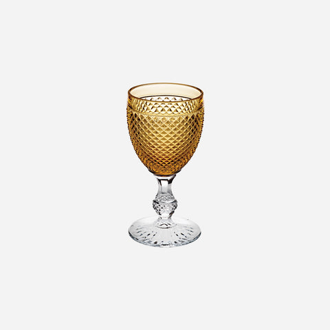 Vista Alegre - Criss Cross Amber Top Wine Glass - BONADEA
