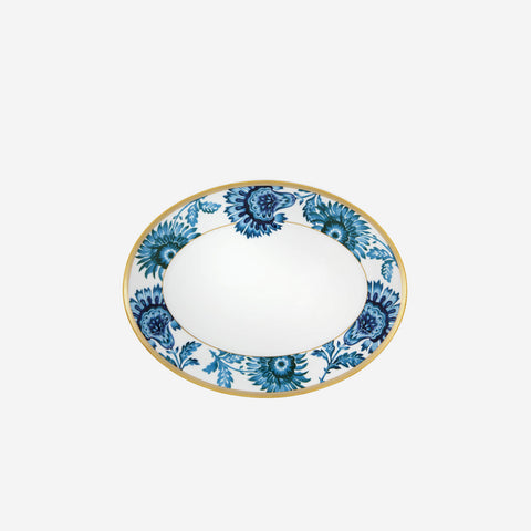 Vista Alegre Gold Exotic Serving Oval Platter - BONADEA
