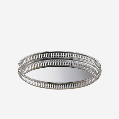 Zanetto | Galleria Large Oval Tray - Silver Plated Tray