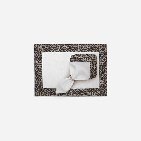 Fortuny Set of Four Platinum Napkins
