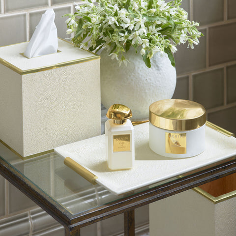 Shagreen Vanity Tray Cream