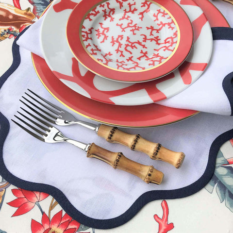 cristobal coral charger plate