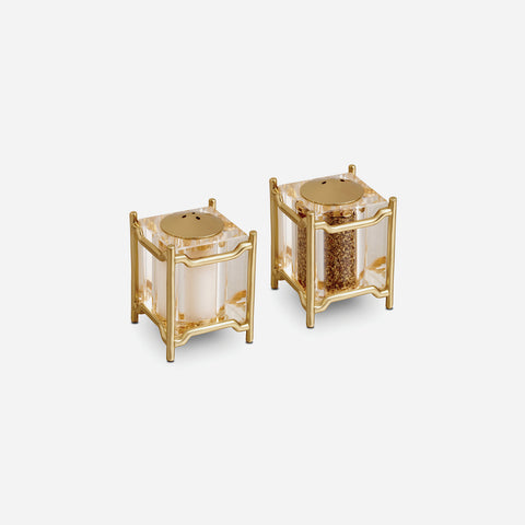 L'Objet Han Gold Spice Jewels Salt & Pepper Set - BONADEA