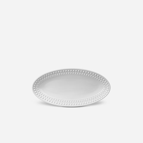 Perlée White Small Oval Platter